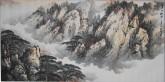 高圣娟(中国美协)国画山水画 四尺横幅 《溪山松云4》精品收藏