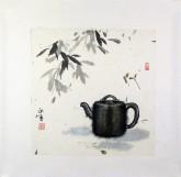 张永军(辽宁美协会员)国画苶壶 小品斗方4