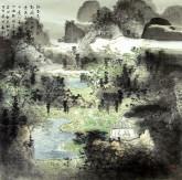 卢禹舜弟子 刘新 国画精品山水画 《寻梦桃源系列1》