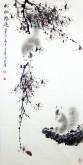 (已售)薛大庸(一级美术师)国画动物松鼠 三尺竖幅《松林野趣》