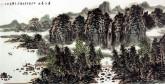 (已售)王本杰(中国美协会员)国画山水画 四尺横幅《春江晨曲》