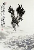 郝众声(中国美协会员)  国画雄鹰《雄姿邈世 逸气横生》42*61cm小品6