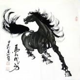 (已售)何红(湖北美协)四尺斗方 国画骏马图《马到成功》