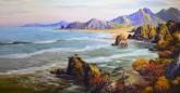 (已售)朝鲜油画 赵正范(一级画家)106*204cm 布面油画 大海20