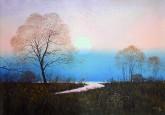 (已售)朝鲜油画 李日明(功勋艺术家)62*90cm 布面油画 升起的太阳10