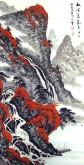 (已售)蓝国强 四尺竖幅 国画山水画《秋清泉气香》