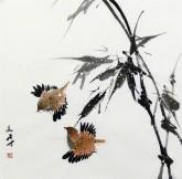 武文博 小品斗方(询价) 国画写意花鸟画 竹子6