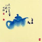 【询价】肖映梅(中国美协)国画花鸟画 小品斗方 茶壶4y