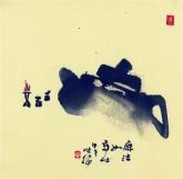 (已售)肖映梅(中国美协)国画花鸟画 小品斗方 茶壶2