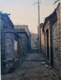 (已售)张立志 布面油画 创作作品60*80cm 胡同 风景画 村庄