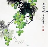 (预定)邵其宏(一级美术师)四尺斗方 国画葡萄《金玉满堂》