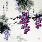 (预定)邵其宏(一级美术师)四尺斗方 国画葡萄《紫气东来》