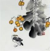 石泉 国画花鸟画小品 小尺寸斗方4-37小果实