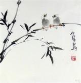 石泉 国画花鸟画小品 小尺寸斗方4-21竹子