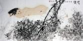 (已售)李雄范(中国美协会员)四尺横幅 国画人物画《梦蝶》