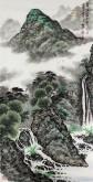 (已售)蓝国强 四尺竖幅 国画山水画《泉流万古声》