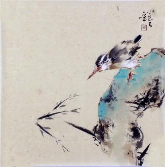 李大庆(中国美协会员)国画花鸟画 精品小尺寸斗方小品