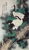 (已售)凌雪 三尺竖幅 国画花鸟画《松鹤延年》7-21