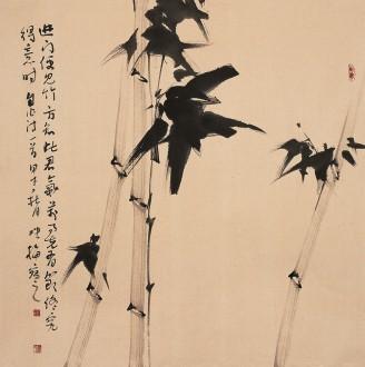 【询价】肖映梅(中国美协)国画花鸟画 四尺斗方《吟竹》