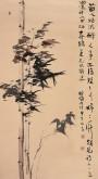 【询价】肖映梅(中国美协)国画花鸟画 六尺竖幅 《有色寒不动 无心却有节》