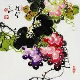 黄艺 国画葡萄 花鸟画 小尺寸《秋实图》