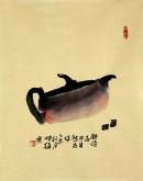 (已售)肖映梅(中国美协)国画花鸟画 小品 小尺寸 茶壶