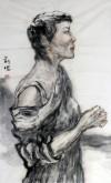 刘珺(中国美协会员)国画人物画84*50cm