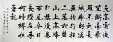 史洪亮 小六尺横幅《清平乐·六盘山》楷书书法