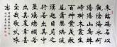史洪亮 小六尺横幅《观沧海》楷书书法