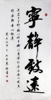 汤青云 江西书协 国画行书法 四尺竖幅《宁静致远》16-26