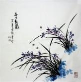 石云轩 国画写意花鸟画 四尺斗方《谷中幽兰》兰花2-11