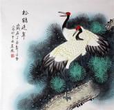 凌雪 四尺斗方 国画松鹤《松鹤延年》17-29