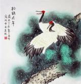 凌雪 四尺斗方 国画花鸟画《松鹤延年》仙鹤18-7