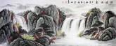 (预定)墨宇(周卡)国画聚宝盆山水画 小六尺横幅1.8米 《源远流长》