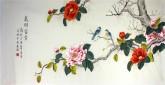 凌雪 四尺横幅 国画工笔画《花开富贵》9-3