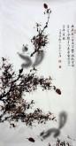 薛大庸(一级美术师)国画动物松鼠画 三尺竖幅《幽居深山古木空》9-1