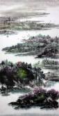 杨秀亮(吉林省美协)国画山水画 精品四尺竖幅《春风》