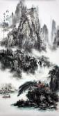 杨秀亮(吉林省美协)国画山水画 精品四尺竖幅《溪山风情》