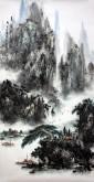 杨秀亮(吉林省美协)国画山水画 精品四尺竖幅《夏云多奇峰》