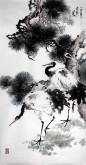 (已售)石云轩 国画写意花鸟画 四尺竖幅《松鹤延年》10-1