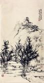 李杜 国画山水画 焦墨山水画 小竖条3
