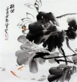 石云轩 国画写意花鸟画 三尺斗方《荷风》荷花11-17