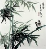 (已售)石云轩 国画写意花鸟画 三尺斗方《清风》竹子11-9