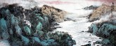 李尤(北京美协)国画山水画 小六尺横幅《观苍海》