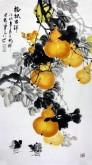 石云轩(广西美协) 三尺竖幅《福禄吉祥》葫芦14-9