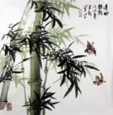 石云轩 国画写意花鸟画 四尺斗方《清风摇影》竹子14-5