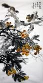 石云轩 国画花鸟画 四尺竖幅《五月枇杷正满林》枇杷15-6