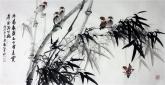 (预定)石云轩 三尺横幅《冬看枝头压白雪 夏赏清风满竹林》3-17竹子